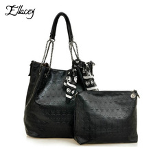 2016 Vintage Designs Skull Bag Pu Leather With Silk Scarf Shoulder Female Bags Women Black Skull Handbags Ladies Casual Tote Bag(China (Mainland))