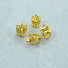 Buy 15pcs Gold color crown Charms Necklace Pendant Bracelet Jewelry Making Handmade Crafts diy Supplies 16*12mm 1511 for $1.77 in AliExpress store