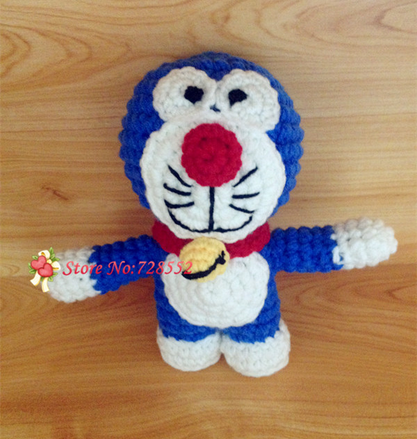 Free shipping cute blue fatty handmade crochet photography props baby stuffed toy doll(China (Mainland))