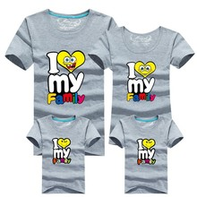1 pc HOT Selling 95% Cotton Shirt Yellow Colors Family Set T Shirts 2016 Matching Family Clothing Men Women Kids Large T-Shirts