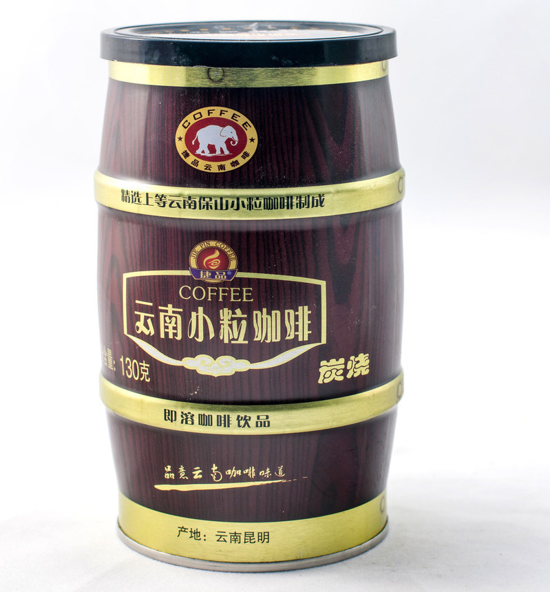 China Small grain coffee canned instant coffee three in one roasted coffee 130g