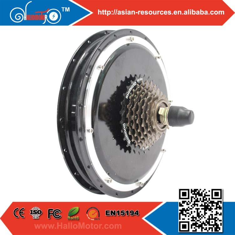 60V 1000W Bicycle Brushless Gearless DC Hub Motor Ebike Cassette Freehub Electric Bike Rear Wheel