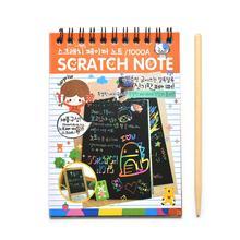 1Pcs DIY Scratchbook Scratch Stickers Note Book Drawing Sketchbook Children Gift Creative Imagination Development Toy Stationery(China (Mainland))