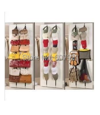 Hot Sale! 120pcs/lot ADJUSTABLE HOOKS Bag Rack,Hold and Organize handbag/purse/scarve/hat-16 items totally(China (Mainland))