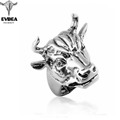 EVBEA 2016 Punk Style Men's Hip And Top Rings Cool Skulls Titanium Steel Rings For Boys Rock Punk Jewelry Accessories