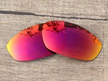 Polycarbonate-Fire Red Mirror Replacement Lenses For Whisker Sunglasses Frame 100% UVA & UVB Protection