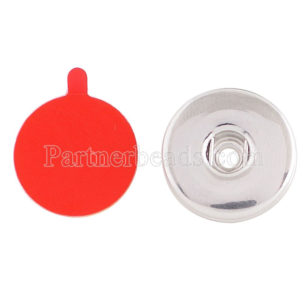 10pcs/lot 20mm snap button base attached to bracelets wallets handbags mobile phones snap jewelry charms fit snaps button KC1157(China (Mainland))