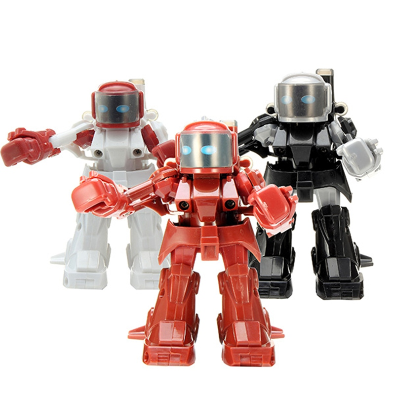 1PCS 2.4G RC Remote Controller Robot Blue White Black Red Plastic Intellegent Boxing Battle Robot for Child(China (Mainland))