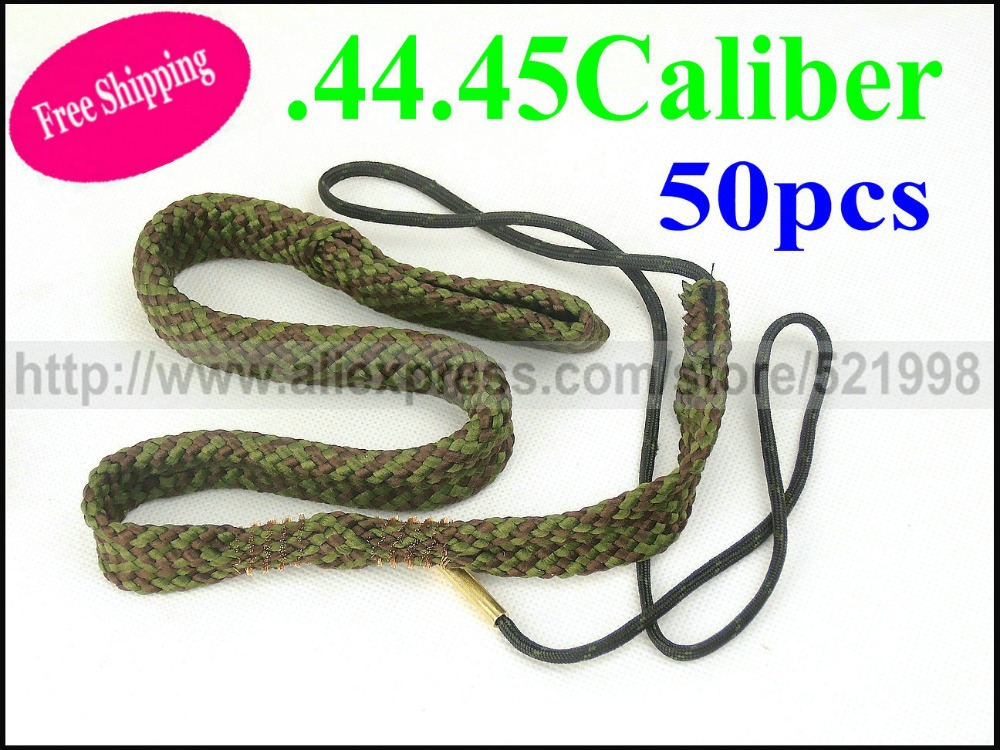 Free shipping Gun&Rose 50pcs Bore Snake .44, .45 Caliber Pistol Gun Cleaner #24004 Tactical Hunting guns cleaner cleaning(China (Mainland))