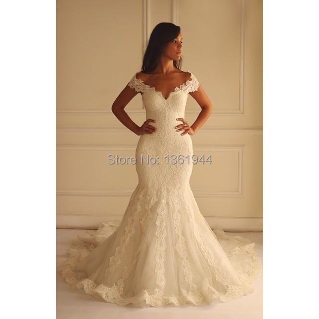 Vestidos de novia 2015 custom made off the shoulder for Wedding dresses with dramatic backs