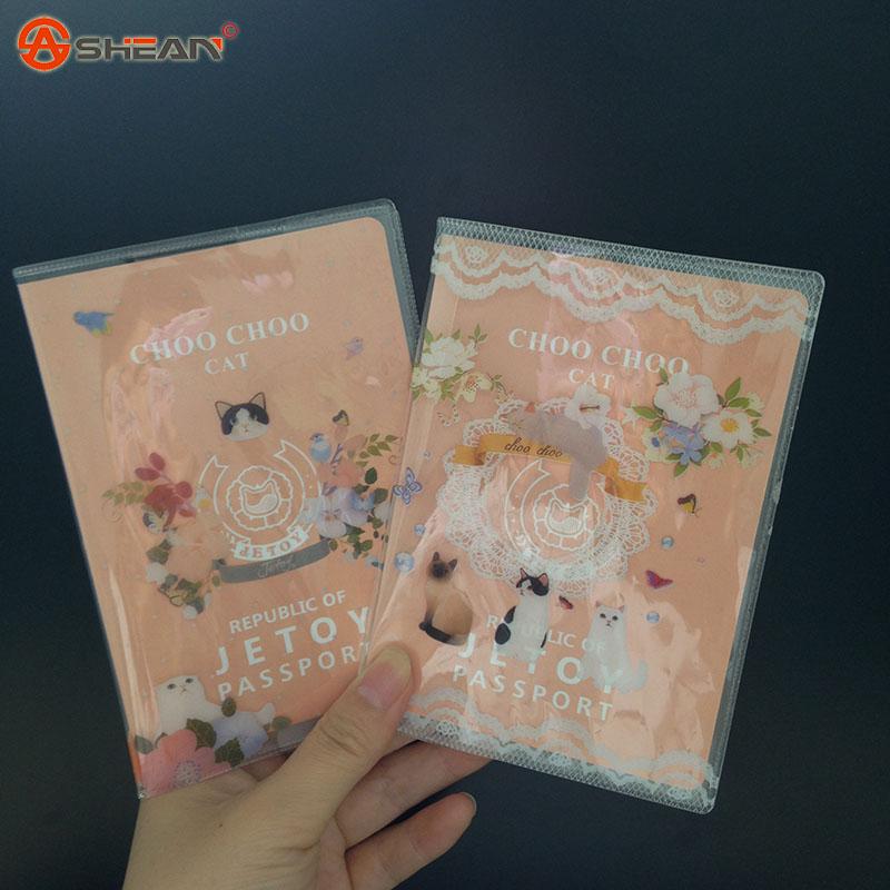 Cute cartoon jetoy transparent passport holder | certificate holder | passport bag 1pc<br><br>Aliexpress