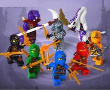 8pcs/lot Moive Phantom Ninja Kid Baby Toy Mini Figure Building Blocks Sets Model Toys Minifigures Brick