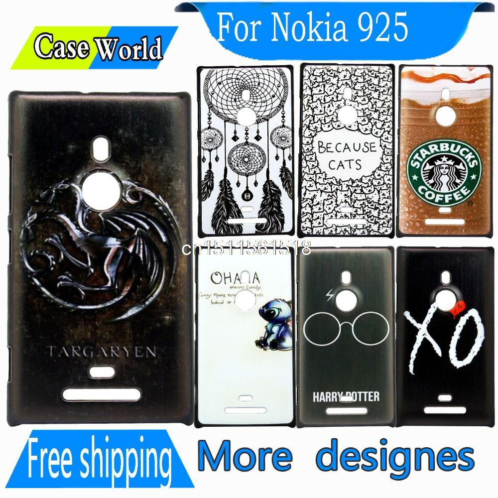 Retro Original Brand New Targaryen Design Hard Transparent Clear Cover Mobile Case For Nokia Lumia 925 Phone Bags Coque Fundas(China (Mainland))