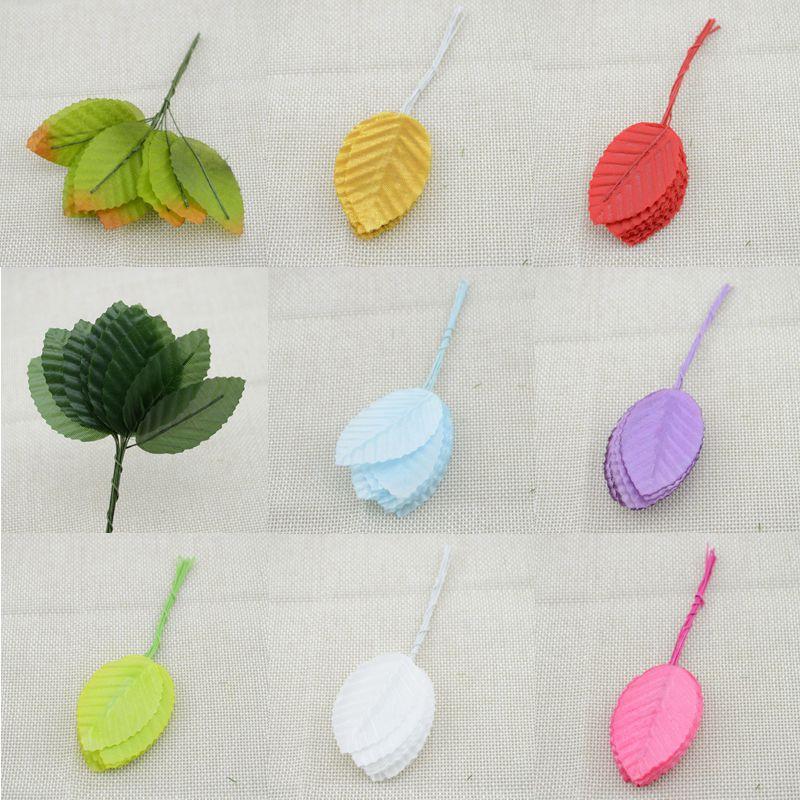 100pcs free shipping artificial flowers simulation rose leaf gold leaf leaves fake silk flower floral decoration leaf home(China (Mainland))