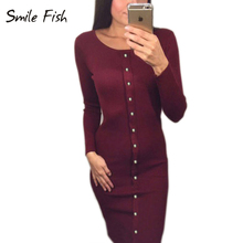 Buy 2016 Winter Autumn Work Style Women Bodycon Dresses Sexy New Arrival Casual Warm Long Sleeve stretchy Sleeve Midi Dress LX062 for $10.02 in AliExpress store