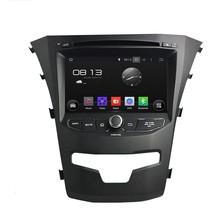 Cortex A9 HD1024*600 Quad Core 1.6G CPU 16GB Flash Android 5.1.1 Car DVD Player Radio GPS Navi Stereo for SsangYong Korando 2014