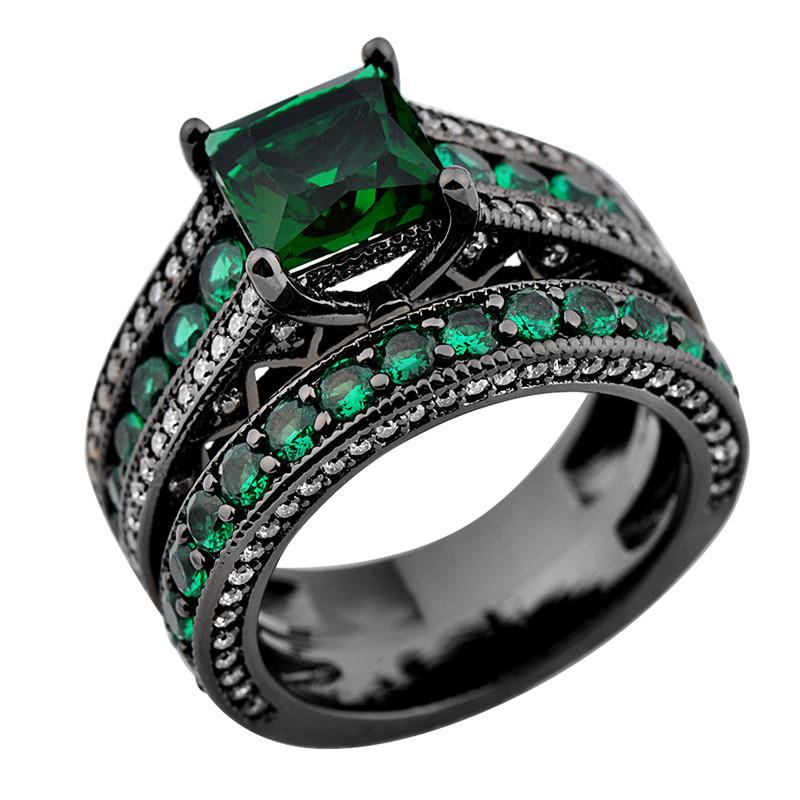 Wedding Band Emerald 28 Cool Black and green wedding