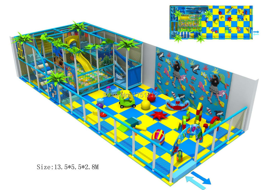 Revised Design For Children Playground Set With Baby Area Top Quality Kids Indoor Play Equipment HZ-5402c(China (Mainland))