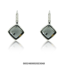 italina Rigant!White gold Plated Grey color Austrian Crystal stone Square 2014 hottest fashion Jewelry drop Earrings,Wholesales(China (Mainland))