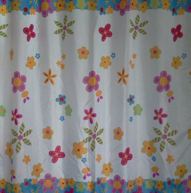 Genuine Thick Waterproof Polyester Shower Curtain Mildew Shower Curtain Fabric Blackout Bathroom