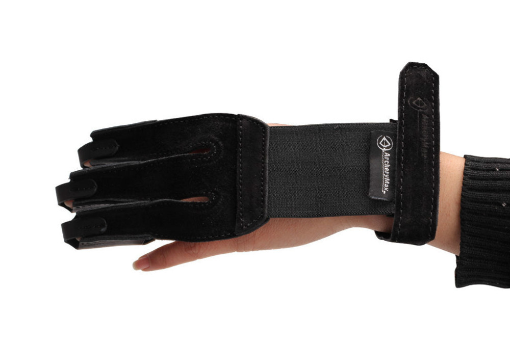 ArcheryMax Hunter TRADITIONAL Shooting fine Suede Gloves Archery 3 Fingers