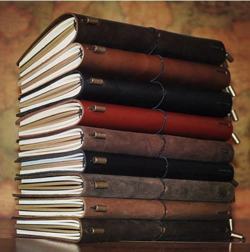 Handmade Vintage Traveler's Notebook Genuine Leather Cowhide diary spiral looes leaf journal Now BUY 1 book get 5 accessories(China (Mainland))