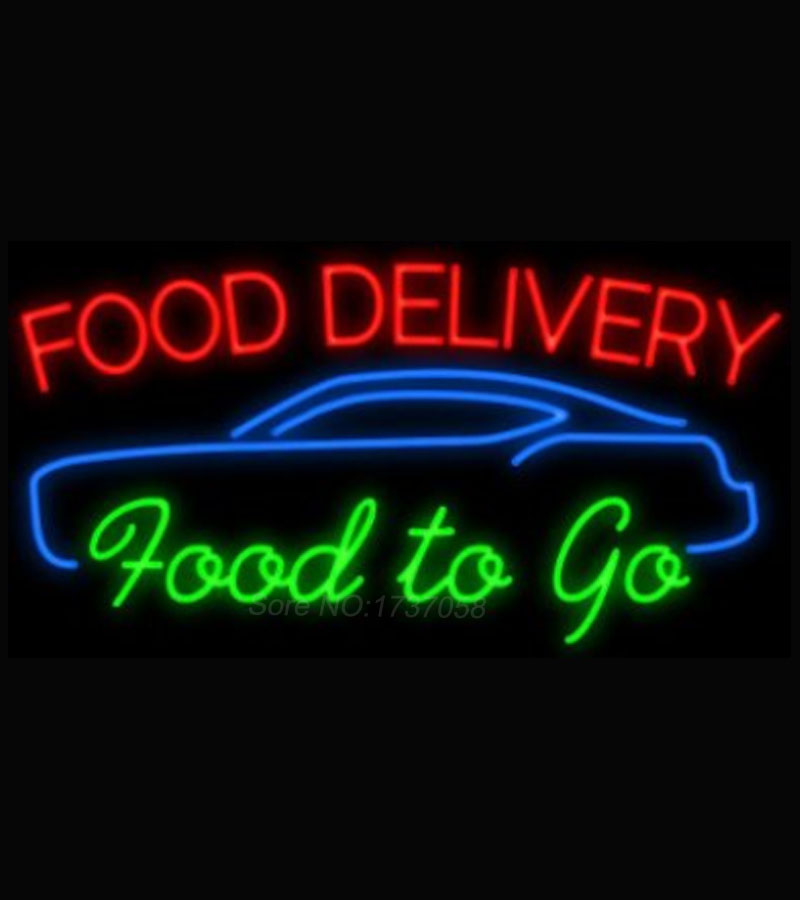 Food delivery food to go neon sign avize neon nikke air for Cuisine to go
