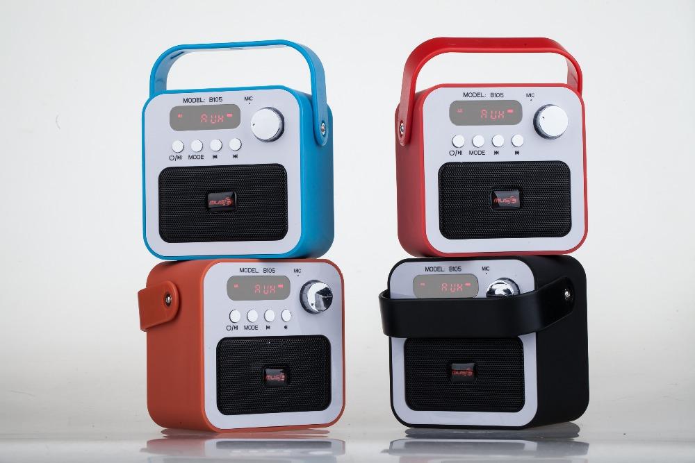retro portable mini fm usb tf bluetooth speaker in. Black Bedroom Furniture Sets. Home Design Ideas