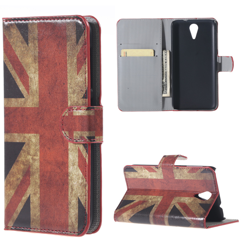 phone cases back cover For HTC Desire 620 620G 820 Mini Retro UK National Flag Folio Stand Leather flip cover mobile phone bag(China (Mainland))