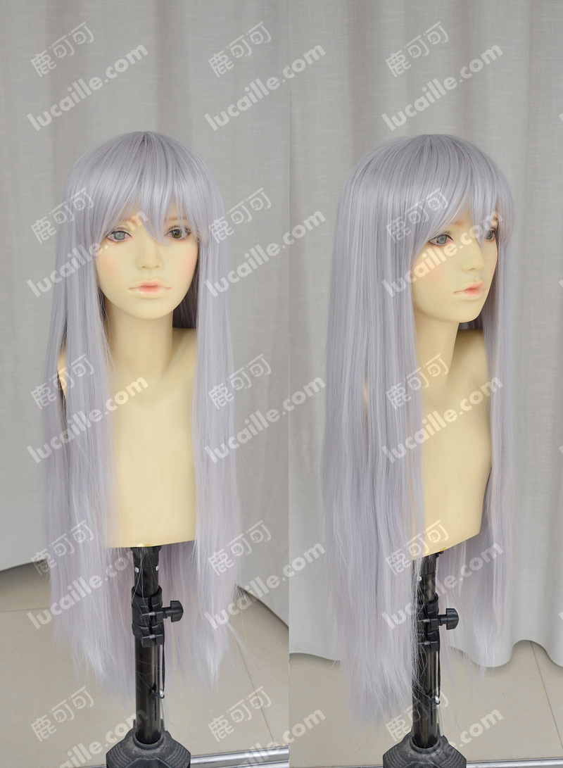 silver wig Absolute Duo Julie Sigtuna Halloween Synthetic long Hair peruca Cosplay Anime Wigs