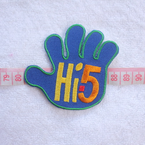 New arrival ! 2015 Fashion Embroidery Patches Punk Rock Patches HI5 Iron on 8X7CM 2A(China (Mainland))