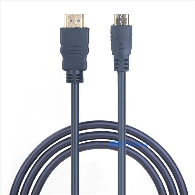 Zhenfa Mini HDMI to HDMI Cable for Canon LEGRIA HF R10 R16 R17 R18 R26 R27 R28 R36 R37 R38 for PowerShot S100 S100V S110 S120(China (Mainland))