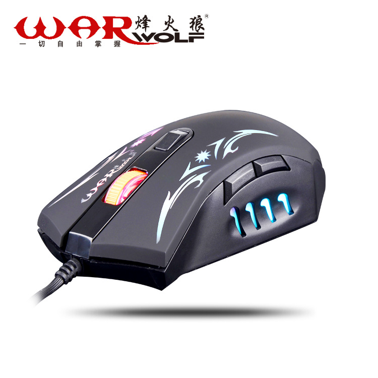 War Wolf M23 Breathing LED 7 Colors USB Professional Gaming Wired Creative Mouse Mice For Game Desktop Free Shipping<br><br>Aliexpress