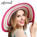 AETRENDS 2017 Newly Travel Beach Hat UV Protection Cap Summer Straw Hats for Women Z
