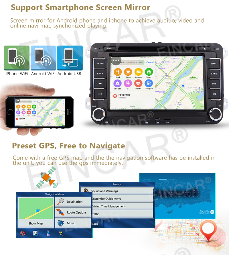 2din Car GPS radio DVD Player for Volkswagen Car Stereo GPS Navigation Canbus for VW Golf Polo Tiguan Passat+GPS Map+wifi+Camera