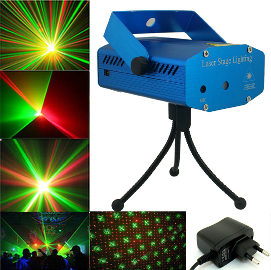 Home Party Moving Head DJ Disco Light Mini Projector LED Stage Lights 15W Green&RED 50mW-100mW Laser Lighting Available EU Plug - Shenzhen Xuou Technology Co., Ltd. store