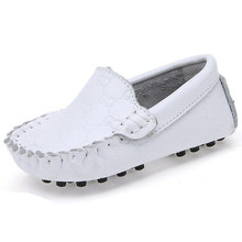 New Baby Boys Girls Single Loafers Genuie Leather Casual Child Sneakers Children's Fashion Moccasins Kids Boat Shoes Soft Shoe(China (Mainland))