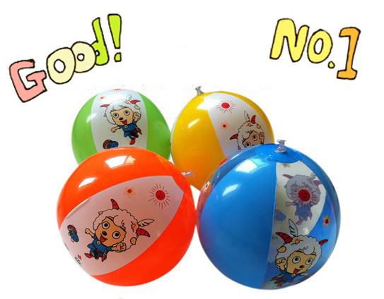 Free shipping (20pieces/lot) beach balls wholesale inflatable beach ball party supplies sheep pattern inflatable water ball(China (Mainland))