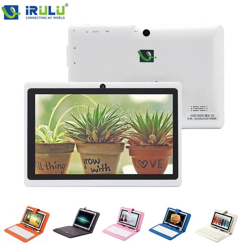 "iRULU eXpro X1 7"" Dual Camera Q88 Pad Allwinner A33 Quad Core 1.5GHz tablet PC 8GB Dual camera wifi OTG White W/Keyboard Case(China (Mainland))"