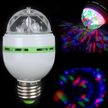 3 Вт E27 RGB Полноцветные СВЕТОДИОДНЫЕ Лампы Авто Вращающийся Стадия Эффект Диско DJ Light Bulb Мини Лазерный Этап Бар Стороны Света Украшения