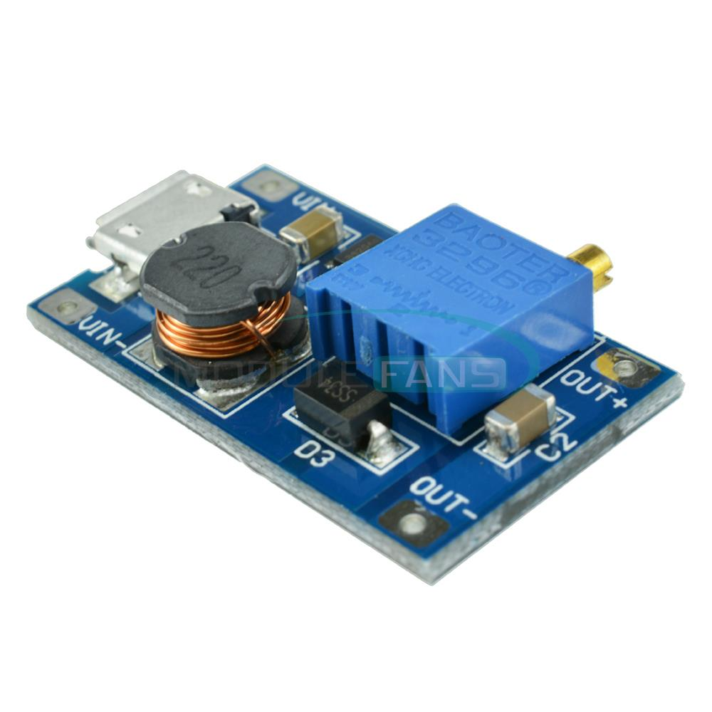 Гаджет  2A booster board DC-DC step-up module input 2/24V to 5/9/12 / 28V Replace XL6009 None Электронные компоненты и материалы