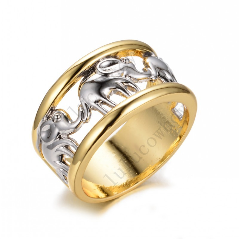Size 6/7/8/9/10 White Elephant Men&Women Fashion Ring Yellow Gold Filled Jewelry Wedding Engagement Rings New Arrival RY0001(China (Mainland))