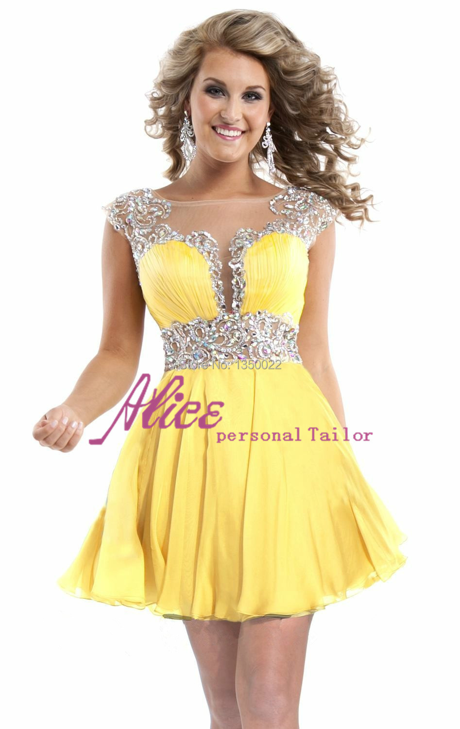 Cheap Yellow Homecoming Dresses