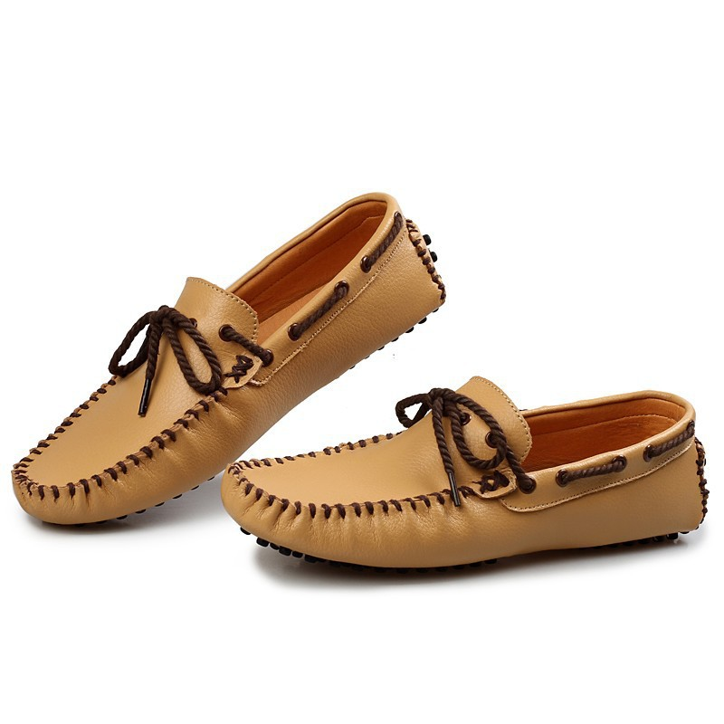 Mens Loafers China Suppliers Luxury Brand Genuine Leather Breathable Moccasins Pedal Driving Shoes Lightweight Gommini #S714(China (Mainland))