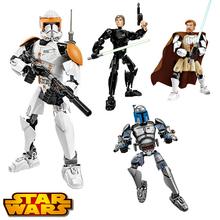 4style Star Wars Luke Skywalker Clone Commander Cody Building Blocks Bricks War Action Figures Space lightsaber Starwars