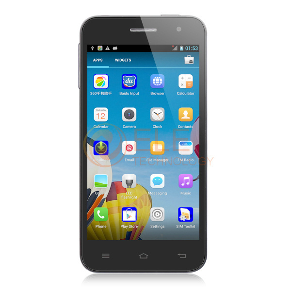 JIAYU G2F 4.3 inch 1280*720 IPS screen MTK6582 quad core 1GB RAM 4GB ROM 8.0MP camera android 4.2 smart cellphone
