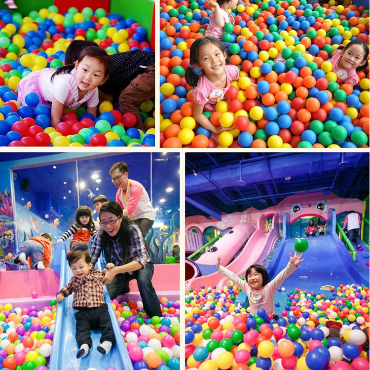50PCS/100PCS/LOT Eco-Friendly Colorful Soft Plastic Tent Water Pool Ocean Wave Ball Baby Funny Toys 5.5cm Wholesale Beach Ball(China (Mainland))