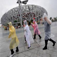 5pcs Unisex Disposable Raincoat Adult Emergency Waterproof Hood Poncho Travel Camping Must Rain Coat