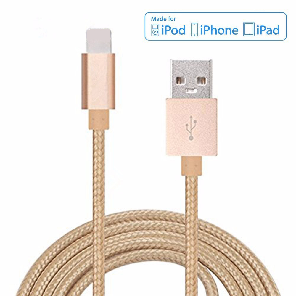 Cable For iPhone 8Pin Nylon Braided Power Cord Connector For iPhone 5 5S 6 6S iPad iPod Power Bank Tablet Charger Charging(China (Mainland))