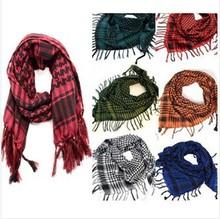 New Unisex Women Men Checkered Arab Grid Neck Keffiyeh Palestine Scarf Wrap scarf men arabic foulard femme(China (Mainland))